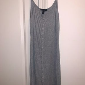 Forever 21 Casual Gray Button Up Dress
